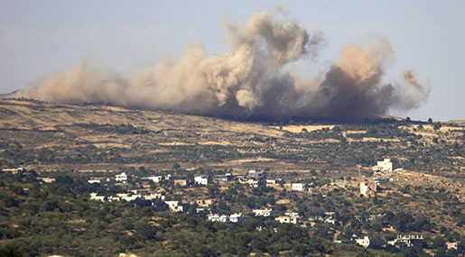 'Israel' Attacks Syria to Support Terrorists