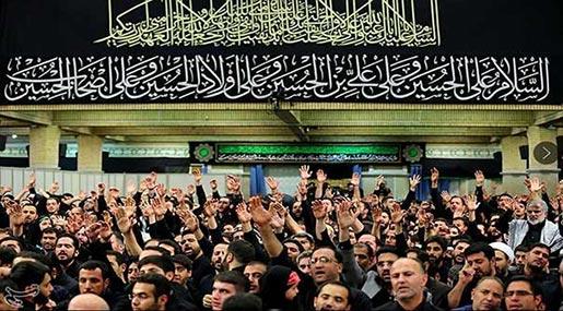 Imam Khamenei Attends Mourning Ceremonies on Tasua Imam Hossein