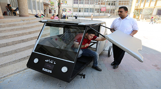 Palestinian Students Build Solar Car to Beat «Israeli» Fuel Blockade