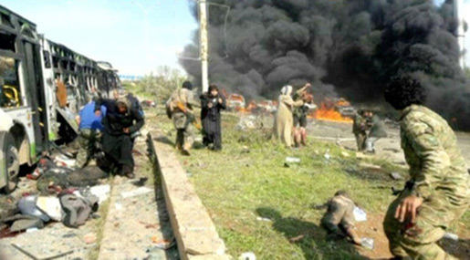 Witnesses: Militants Lured Evacuees Out of Buses before Blast