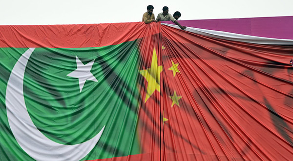 China-Pakistan flags