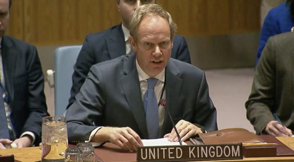 UK's UN ambassador Matthew Rycroft