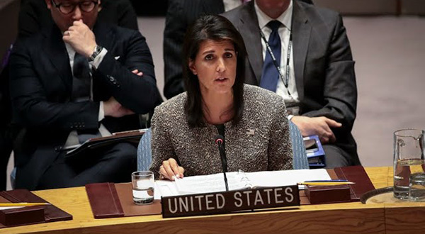 US Ambassador Nikki Haley