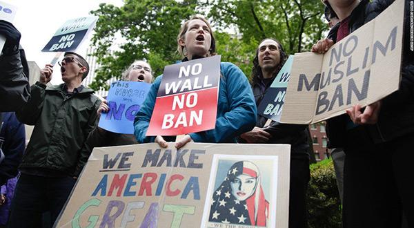No Ban protest