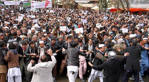Hundreds of Afghans Protest Daesh Killings