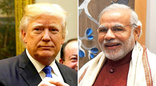 US President Donald Trump and Indian PM Narendra Modi