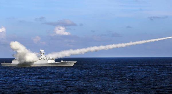 Chinese naval ship in Mediterranean Sea