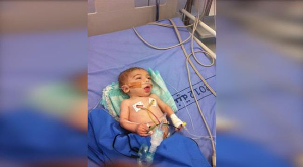 Palestinian baby Abdul-Rahman Mohammad al-Barghouthi