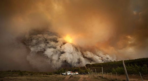 Scores Evacuated in S Africa as Storm Fans Fires