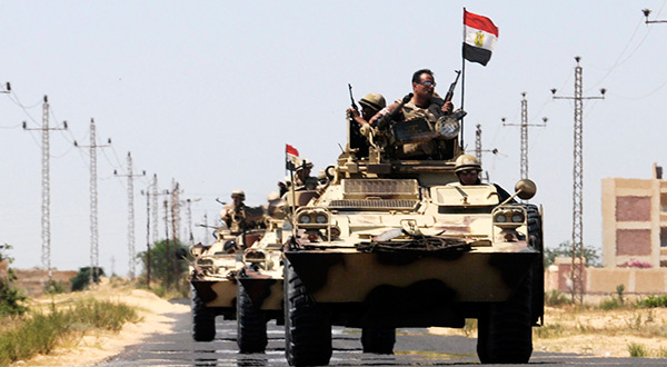 Egyptian army tanks