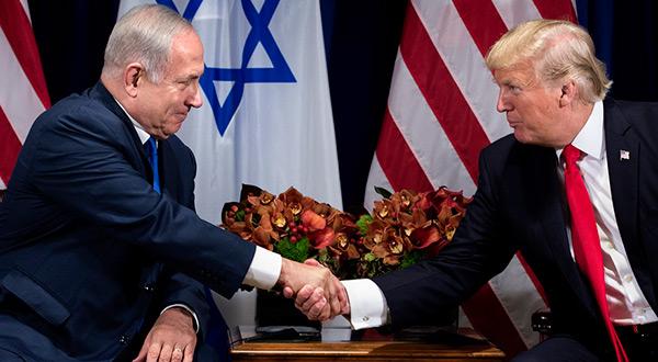 "US President Donald Trump and ""ISraeli"" PM Benjamin Netanyahu"