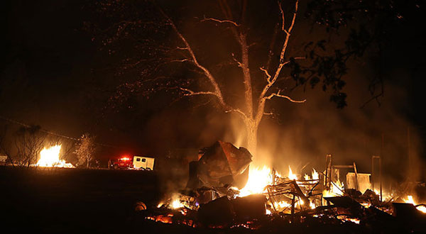 カリフォルニア州野生火災