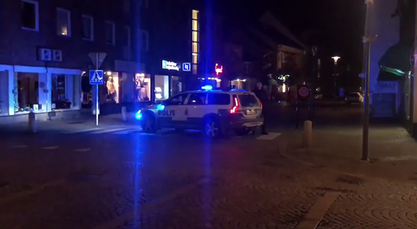 Swedish police at market shooting site