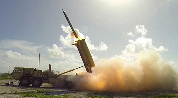 THAAD missile launcher