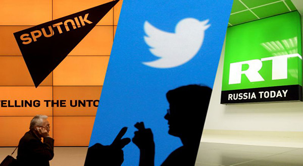 Alahednews:Twitter Bans Adverts From Russia Today, Sputnik