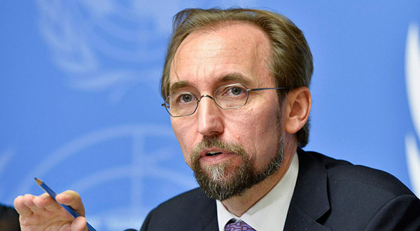 High Commissioner for Human Rights Zeid Ra'ad Al Hussein