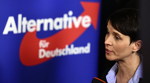 The leader of the Alternative for Germany party, Frauke Petry.