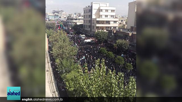 Martyr Hojaji Funeral procession