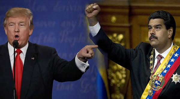 Us President Doandl Trump and his Venezuelan counterpart Nicolas Maduro