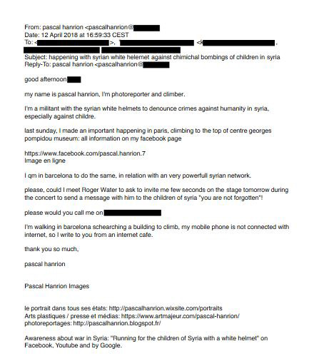 Roger Waters email