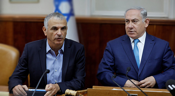 """Israeli"" Prime Minister Benjamin Netanyahu and so-called Finance Minister Moshe Kahlon"