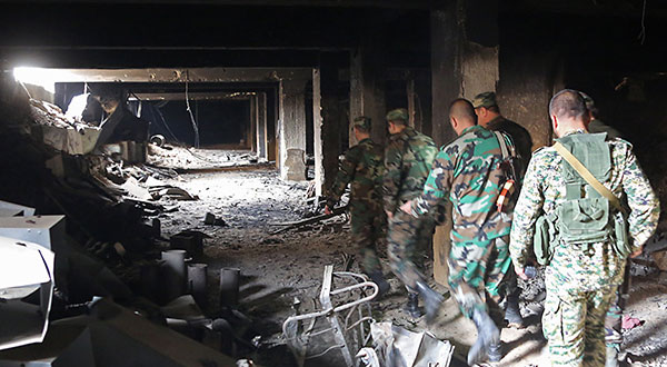 Syrian Army Discovers Munitions Depots, Workshop for Manufacturing Shells in E Ghouta