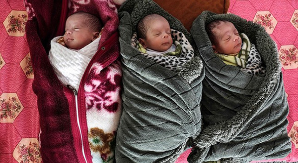 Palestinian Triplets Named In Protest of Trump's Al-Quds Move
