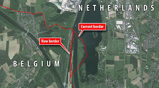 Belgium and Netherlands map