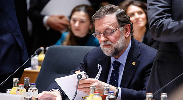 Ousted Spanish PM Mariano Rajoy