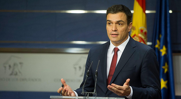 Spanish Socialist leader Pedro Sanchez