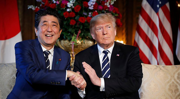 US President Donald Trump and Japanese PM Shinzo abe
