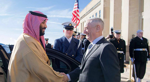 Saudi Crown Prince MBS and US War Secretary James Mattis