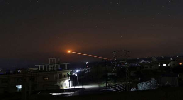 Syria: Air Defenses Intercept Missiles near Homs