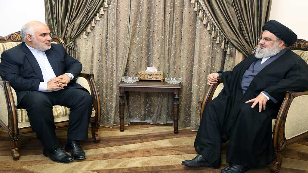 Sayyed Nasrallah Receives Iran's Ambassador in a Farewell Visit