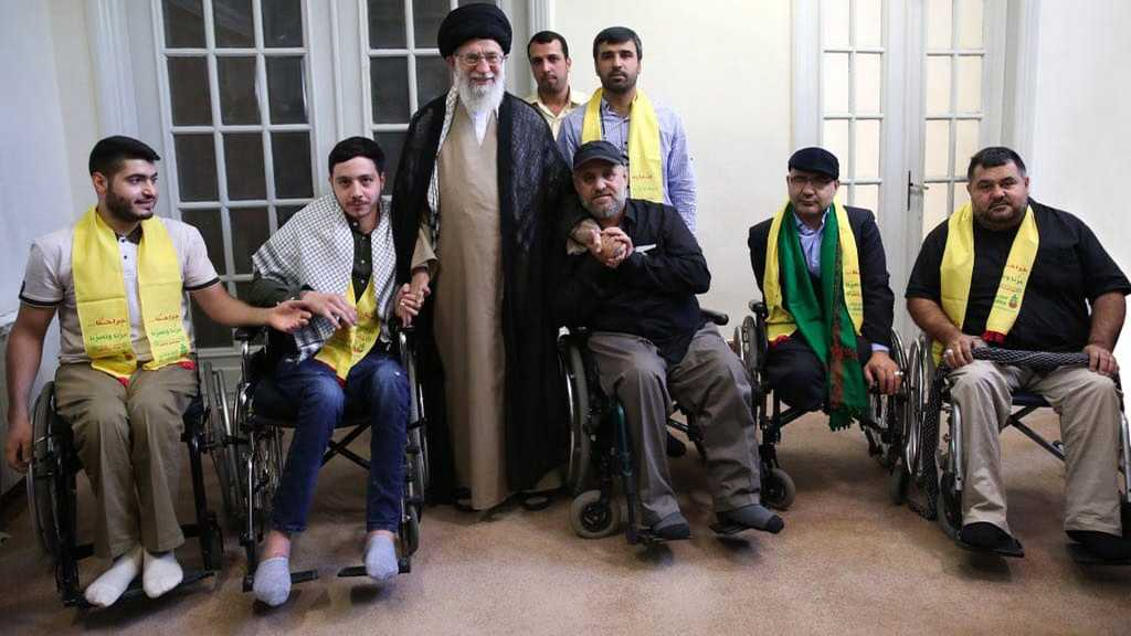 On the July 2006 War Anniversary, Imam Khamenei Receives Wounded Hezbollah Fighters
