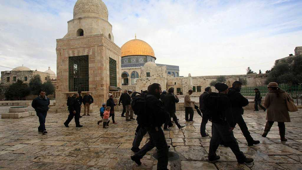 """""""Israeli"""" Settlers Storm Al-Aqsa Holy Mosque Compound"""