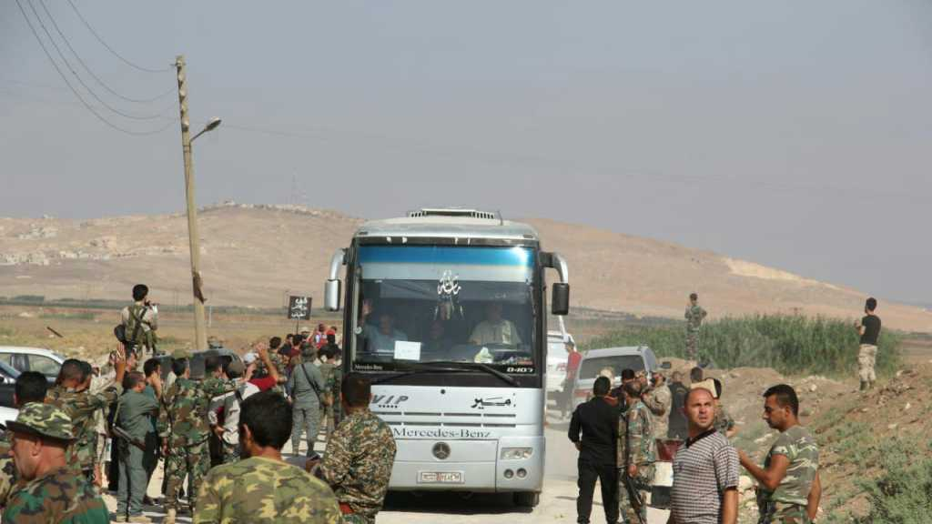 Evacuation of Besieged Kefraya, Foua Residents to al-Eis Corridor Continues