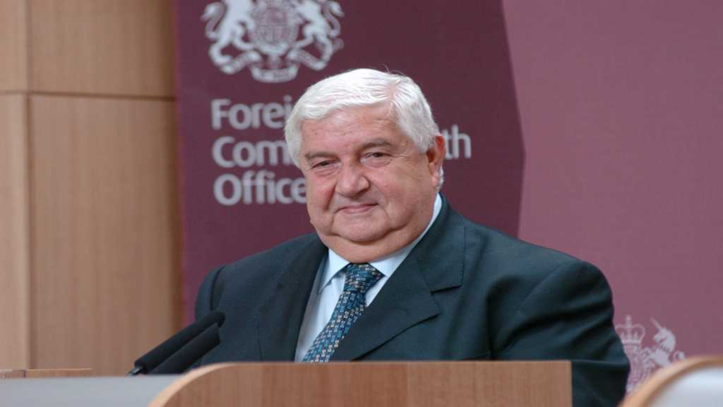 Syria's FM Al-Moallem: US Presence Illegal, It Must Leave
