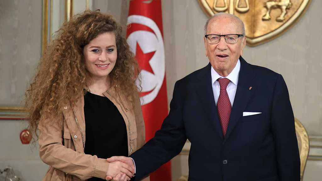 Palestinian Activist Ahed Tamimi Meets with Tunisian President