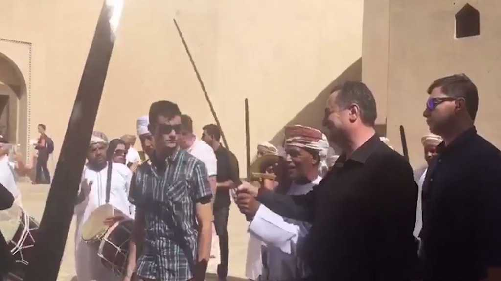 """Israeli"" Minister Performs Traditional Sword Dance in Oman, Declares Train Link"