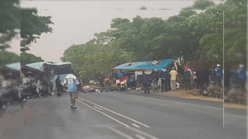 Zimbabwe Horror Crash: Head on Collision between 2 Buses Kills 47