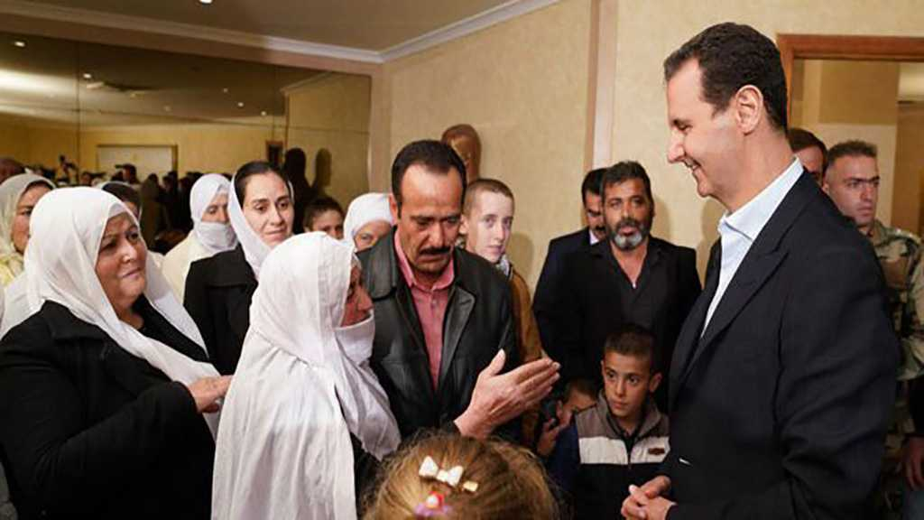 Al-Assad Receives Liberated Sweida Abductees: Liberating Kidnapped Syrians A Top Priority