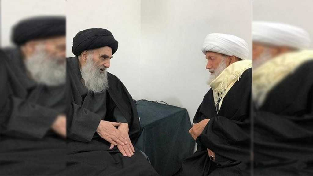 Bahrain's Top Cleric Ayatollah Qassim in Najaf, Visits Ayatollah Sistani