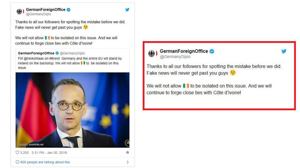 German Ministry Mocked for Mistaking Ivory Coast for Ireland in Brexit Tweet