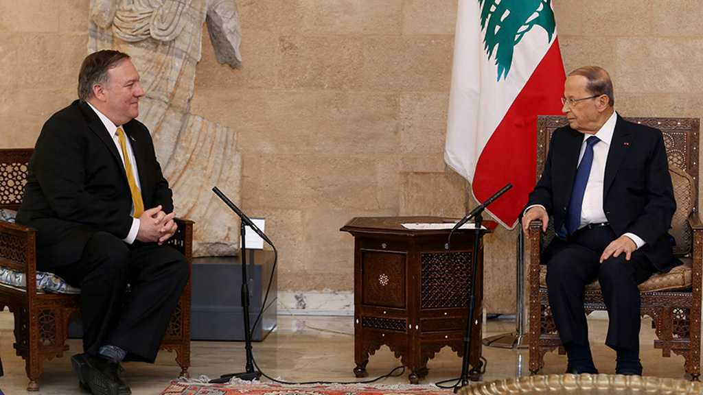 Aoun Slaps Pompeo Hard: Hezbollah is a Lebanese Party that Has Popular Support