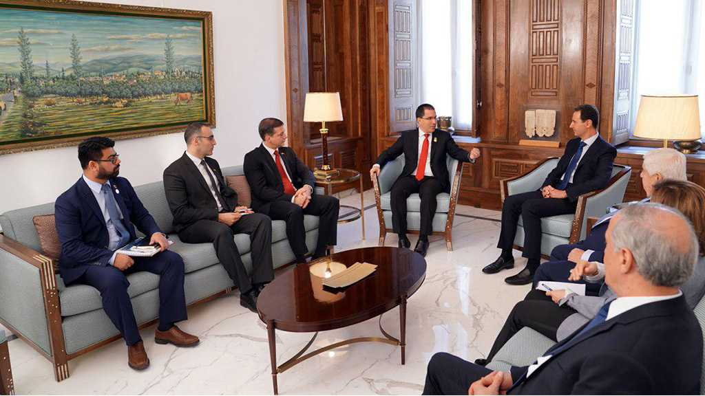 Al-Assad to Venezuelan FM: Events in Your Country are Similar to what Syria Has Witnessed