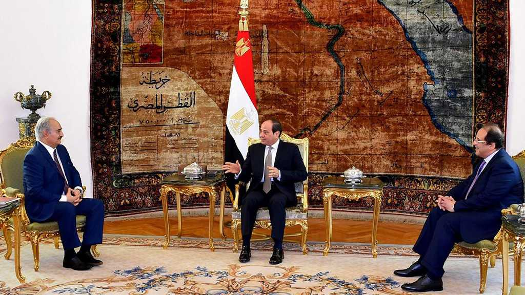 Egyptian President Meets Libyan Commander Haftar in Cairo