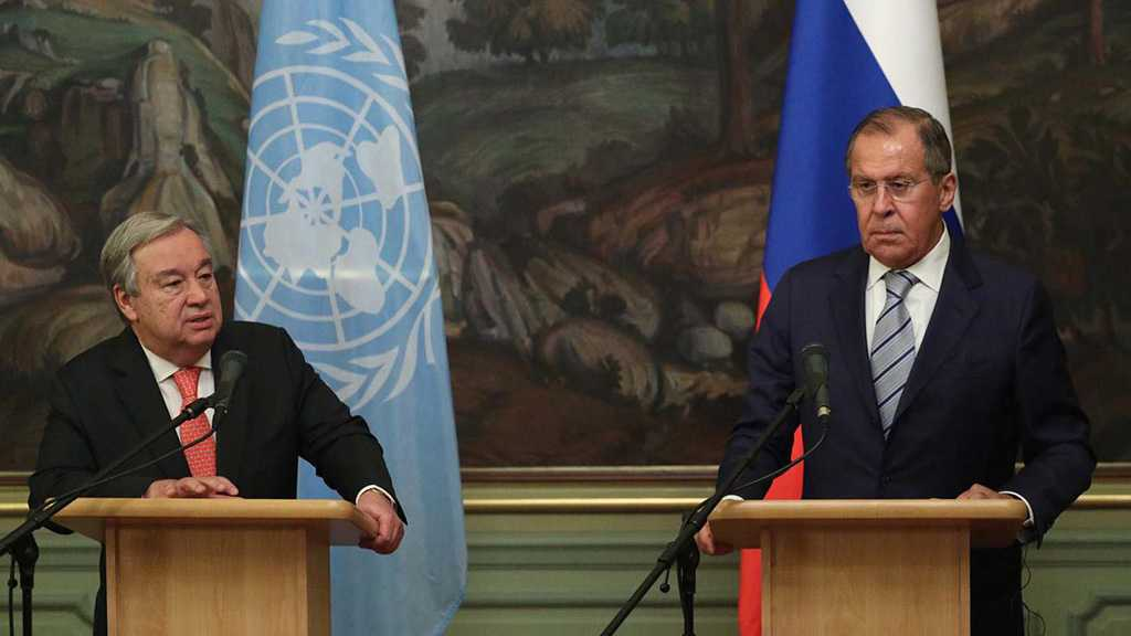 Lavrov Discusses with Guterres Solving Syrian Crisis