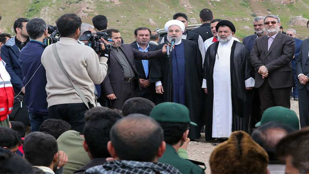Rouhani Visits Flood-Affected People, Pledges Prioritizing Their Needs