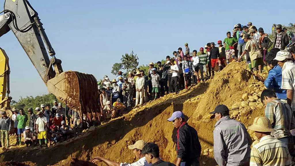 Over 50 Believed Killed in Collapse at Myanmar Jade Mine